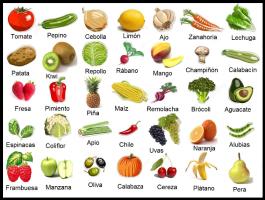 Frutas y verduras vocabulario